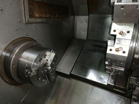 USED OKUMA HL20 CNC LATHE-2